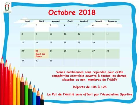 Mardi des Dames – 23 Octobre