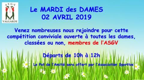 Mardi des Dames – 2 Avril
