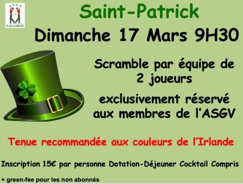 Scramble de la Saint Patrick – 17 Mars
