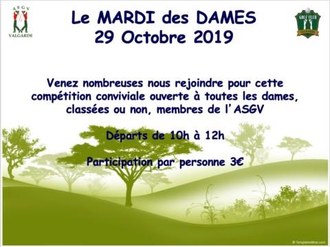 Mardi des Dames – 29 Octobre 2019