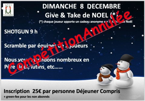 Give and Take de Noël – Dimanche 8 Décembre