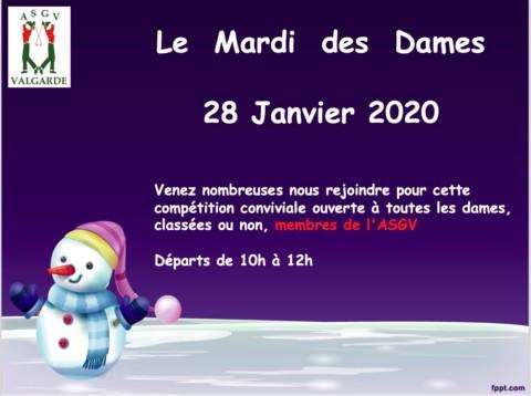 Mardi des Dames – 28 Janvier