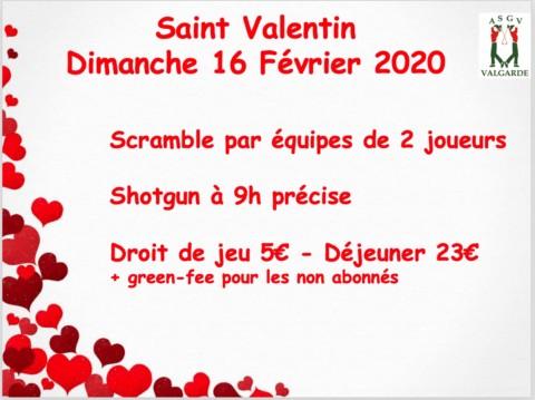 Scramble Saint Valentin – Dimanche 16 Février