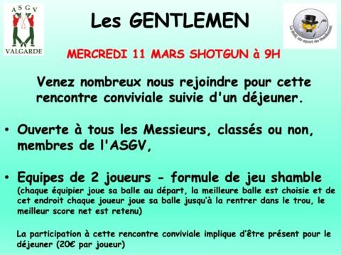 Gentlemen – 11 Mars